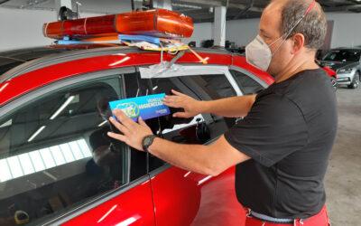 Cómo se preparan los coches para la Vuelta Ciclista a Burgos