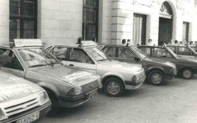 1983: Crece la flota de vehículos Ford para la Vuelta a Burgos.