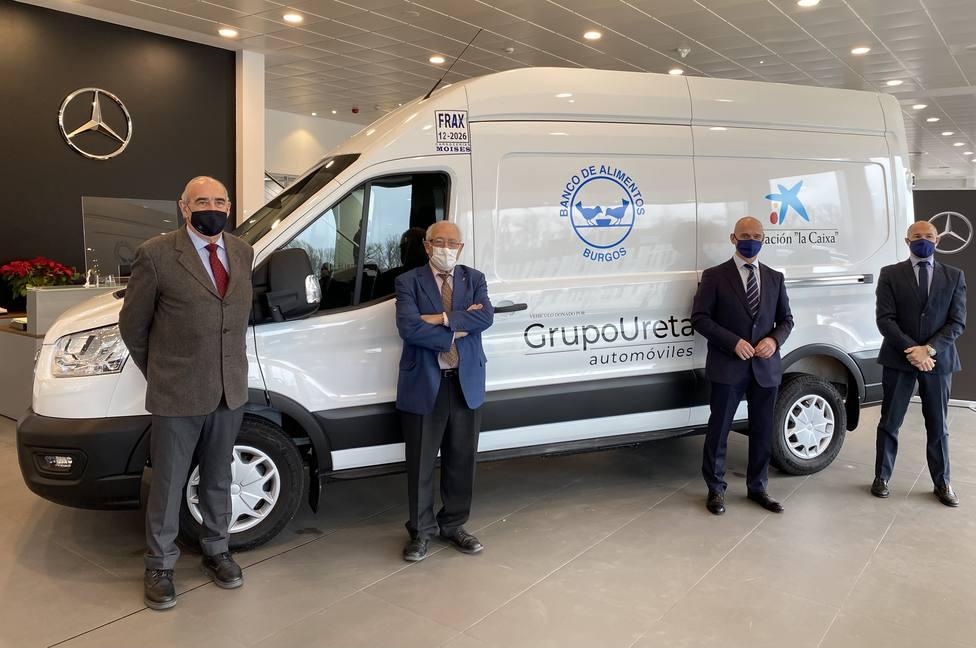 El Banco de Alimentos de Burgos dispondrá de un vehículo gracias a la colaboración de Grupo Ureta Automóviles y Fundación «la Caixa»