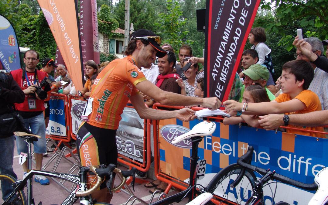 """Samuel Sánchez y Joaquín """" Purito"""" Rodriguez en la Vuelta a Burgos 2011."""